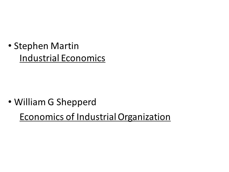Buku Rujukan Stephen Martin Industrial Economics William G Shepperd