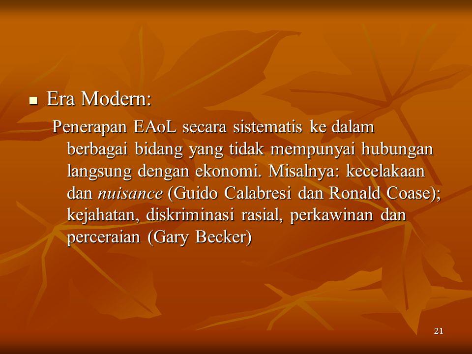 Era Modern: