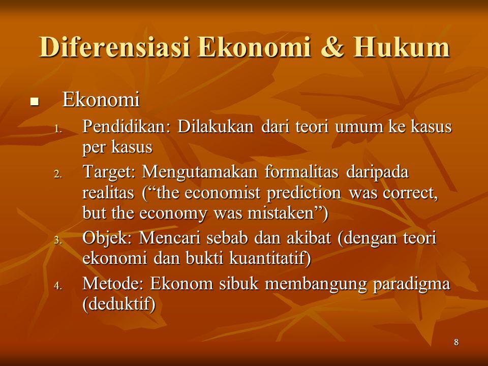 Diferensiasi Ekonomi & Hukum