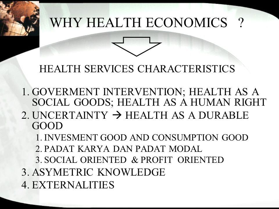 HEALTH SERVICES CHARACTERISTICS