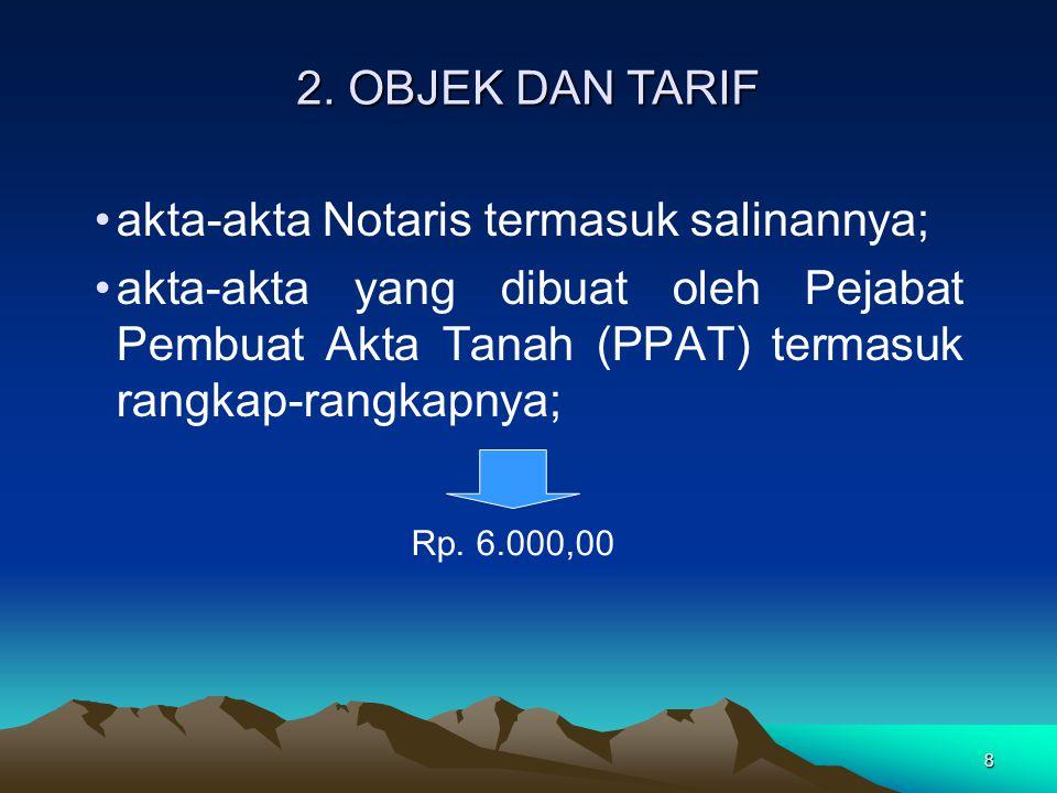 akta-akta Notaris termasuk salinannya;