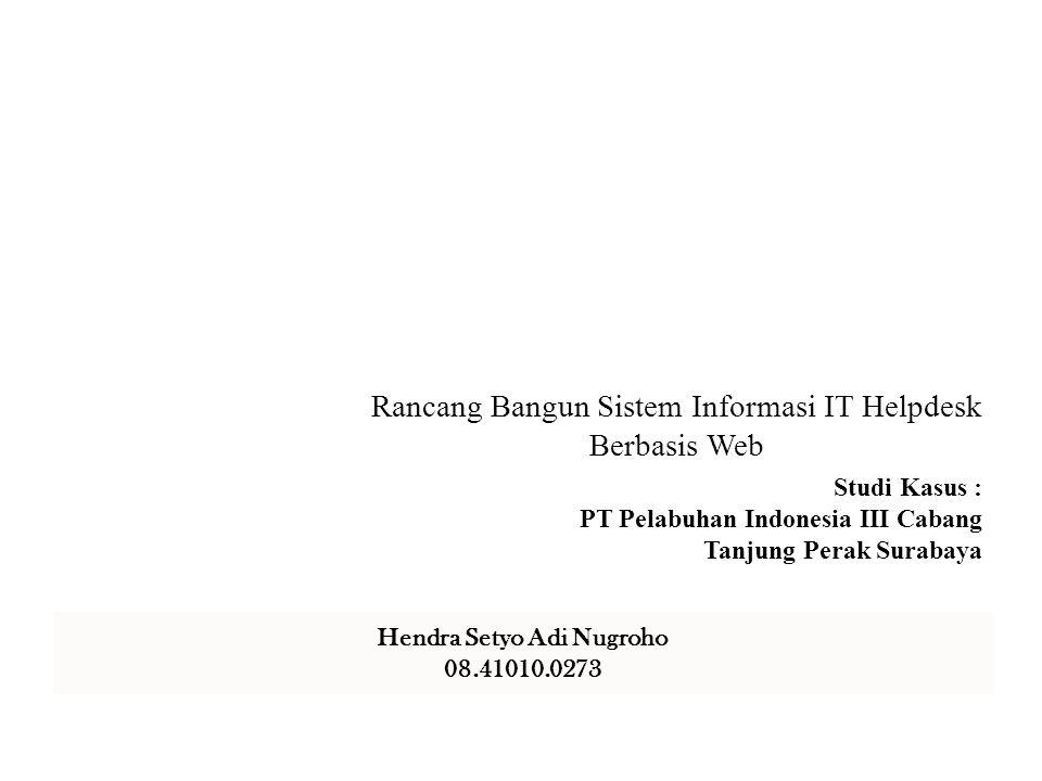 Rancang Bangun Sistem Informasi IT Helpdesk Berbasis Web
