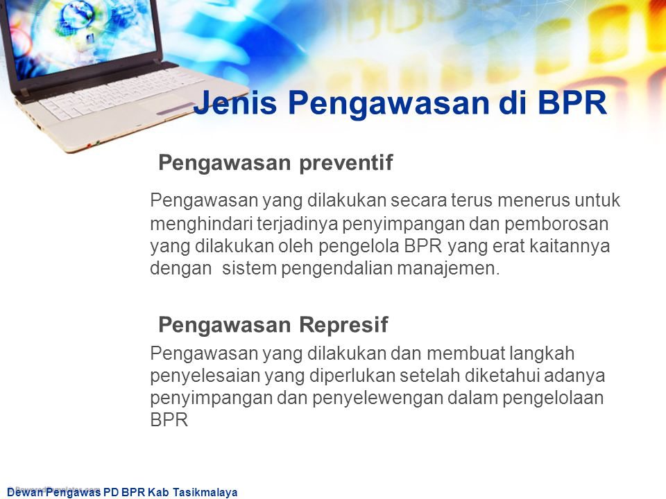 Jenis Pengawasan di BPR
