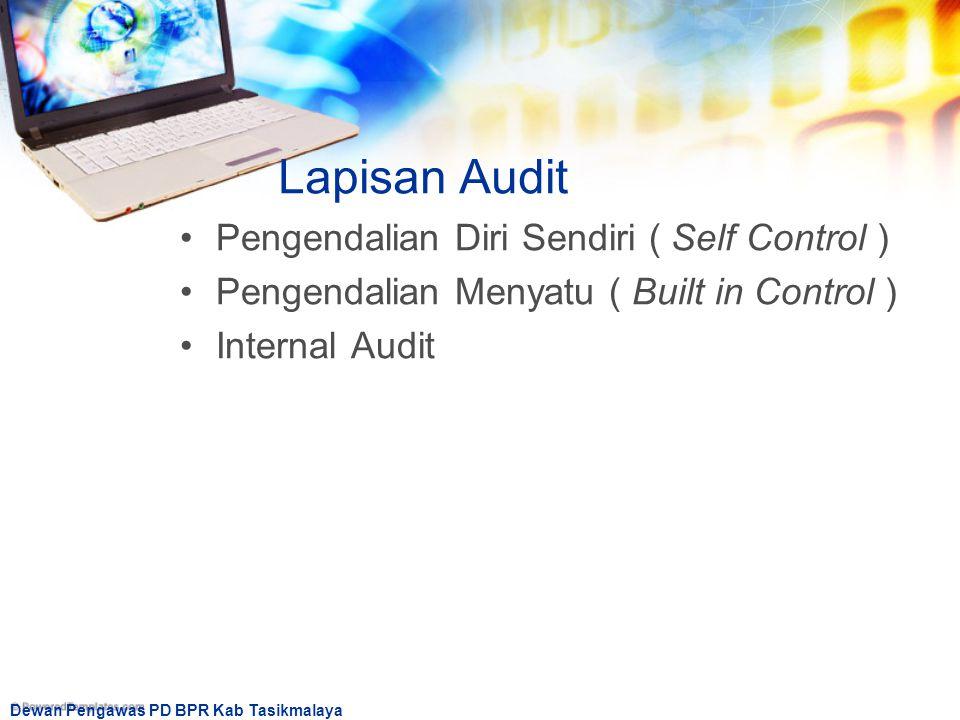Lapisan Audit Pengendalian Diri Sendiri ( Self Control )