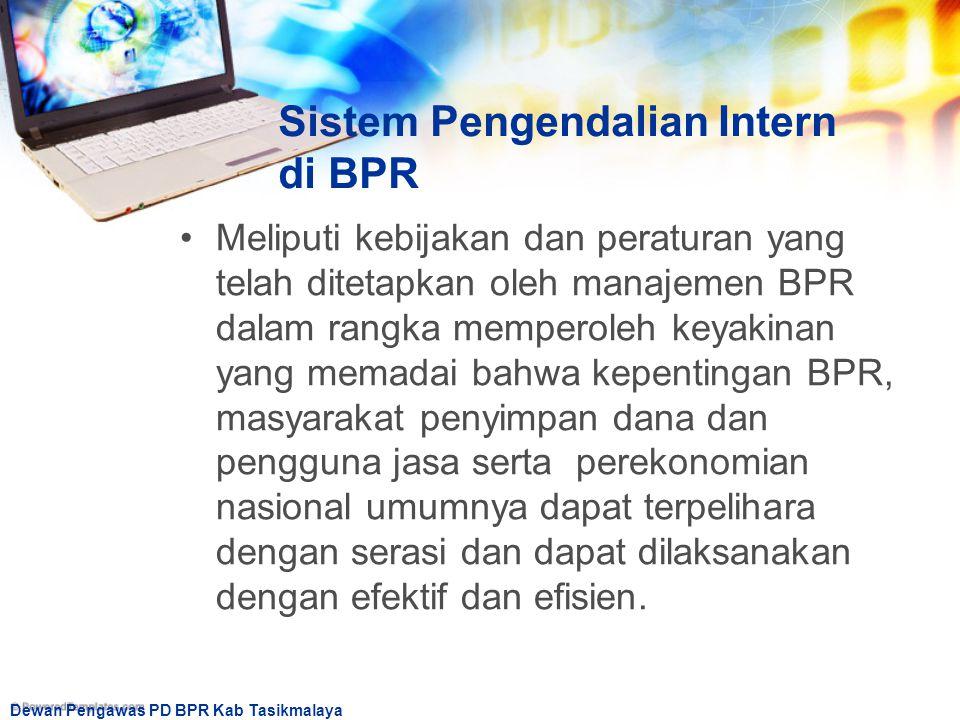 Sistem Pengendalian Intern di BPR