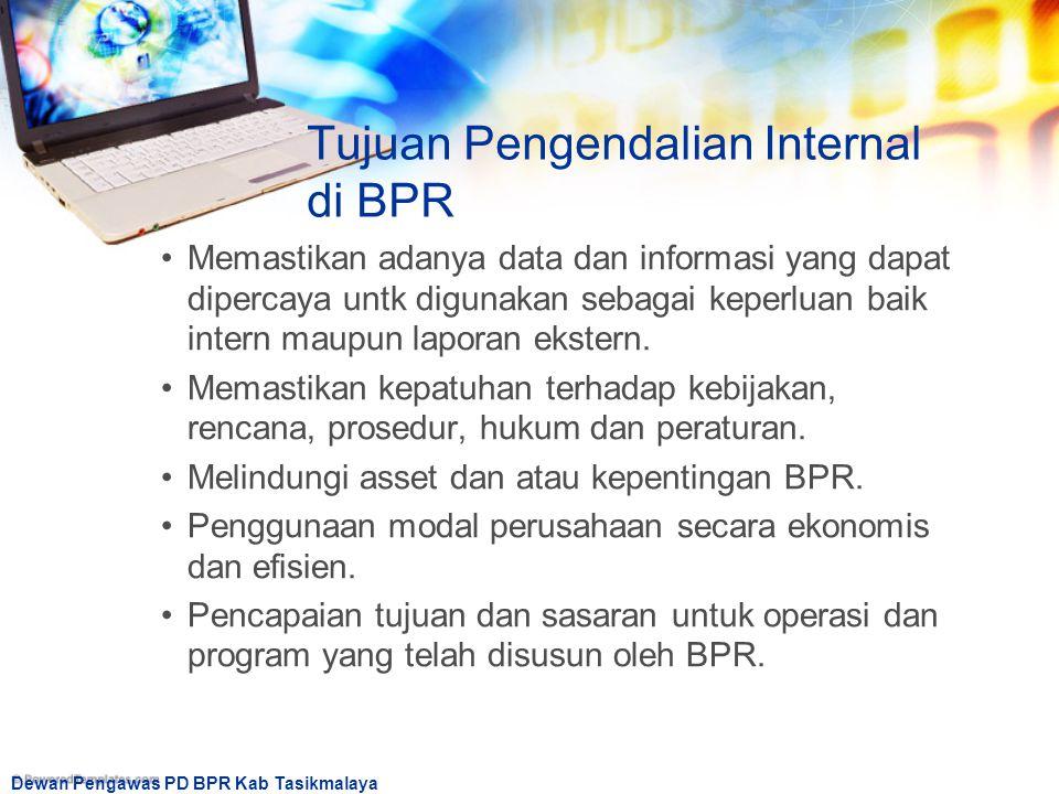 Tujuan Pengendalian Internal di BPR