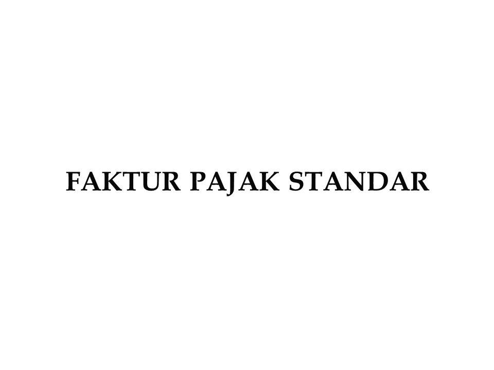 FAKTUR PAJAK STANDAR