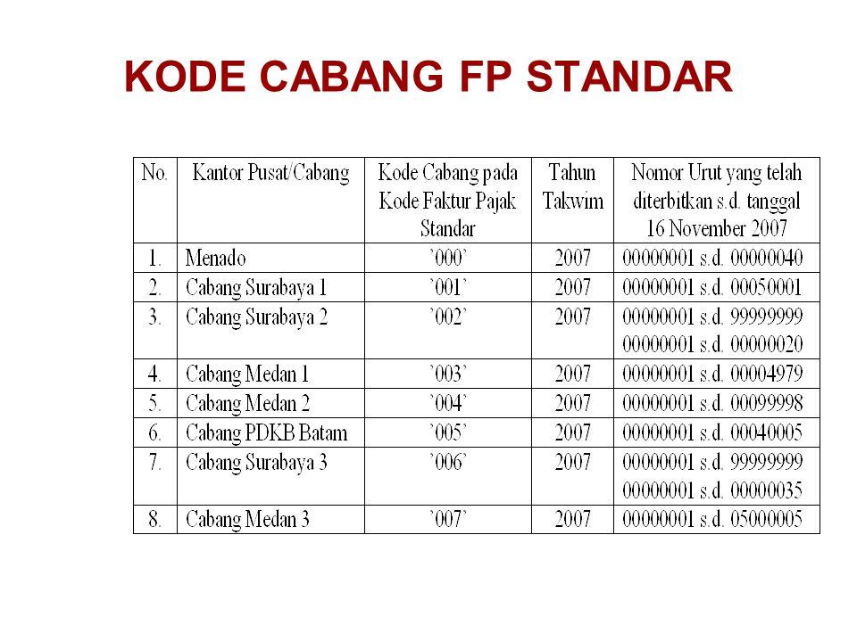 KODE CABANG FP STANDAR