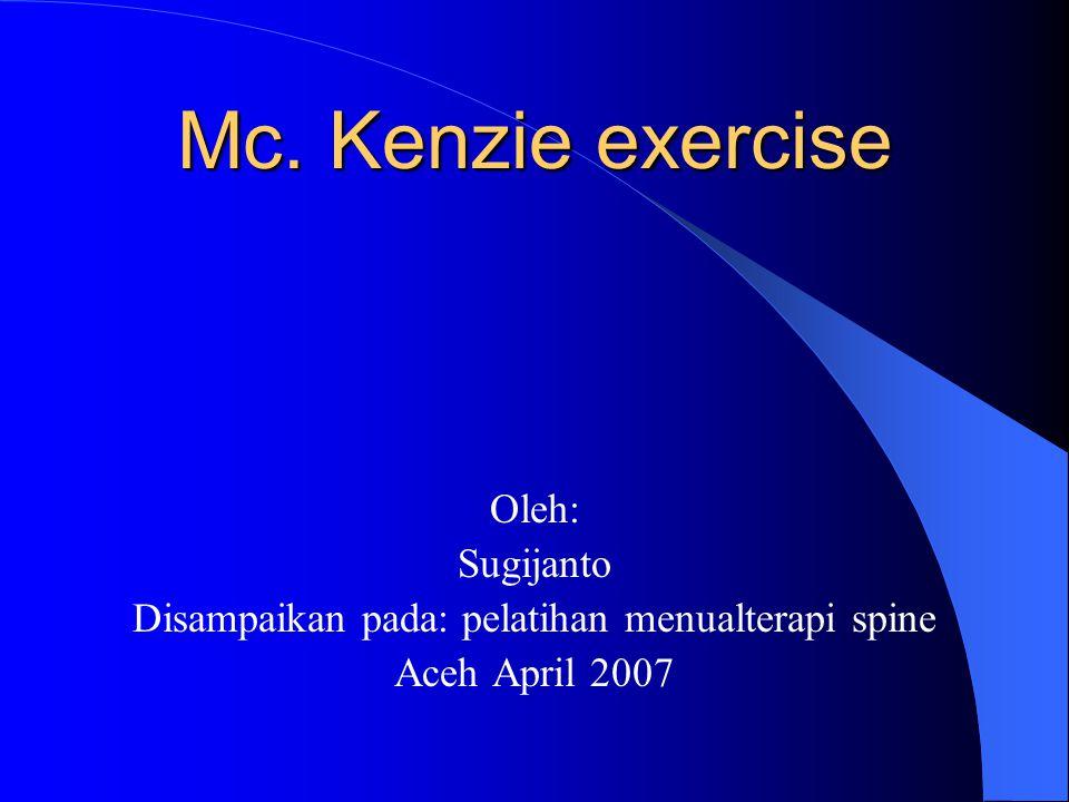 Disampaikan pada: pelatihan menualterapi spine