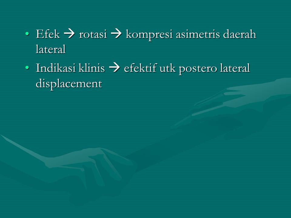 Efek  rotasi  kompresi asimetris daerah lateral