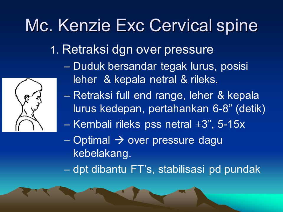 Mc. Kenzie Exc Cervical spine