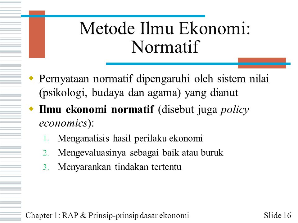 Metode Ilmu Ekonomi: Normatif
