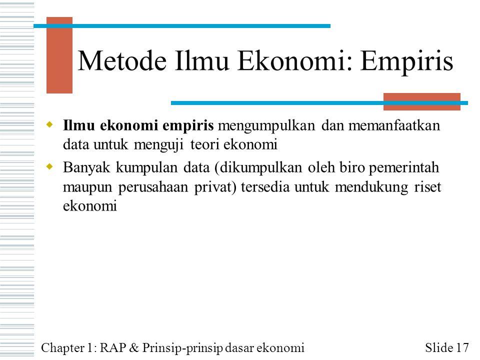 Metode Ilmu Ekonomi: Empiris