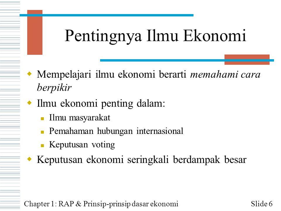 Pentingnya Ilmu Ekonomi