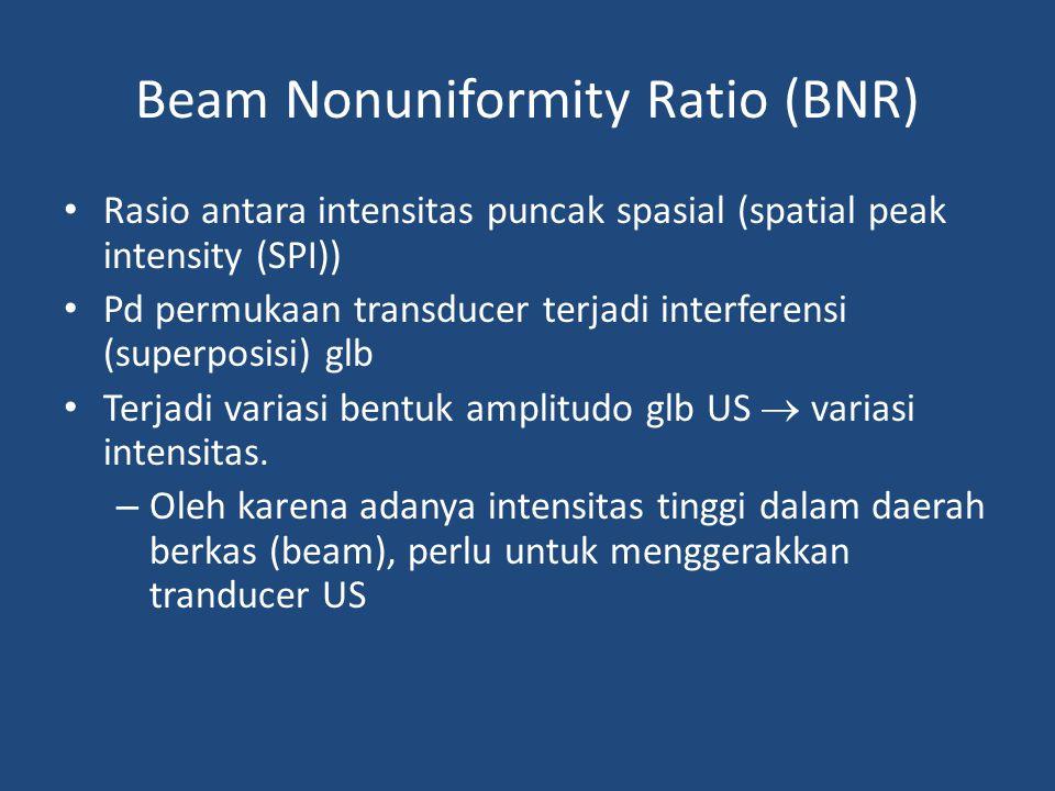 Beam Nonuniformity Ratio (BNR)