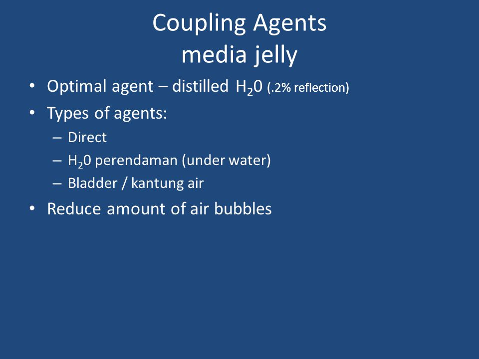 Coupling Agents media jelly