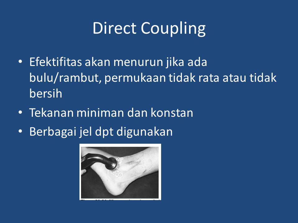 Direct Coupling Efektifitas akan menurun jika ada bulu/rambut, permukaan tidak rata atau tidak bersih.
