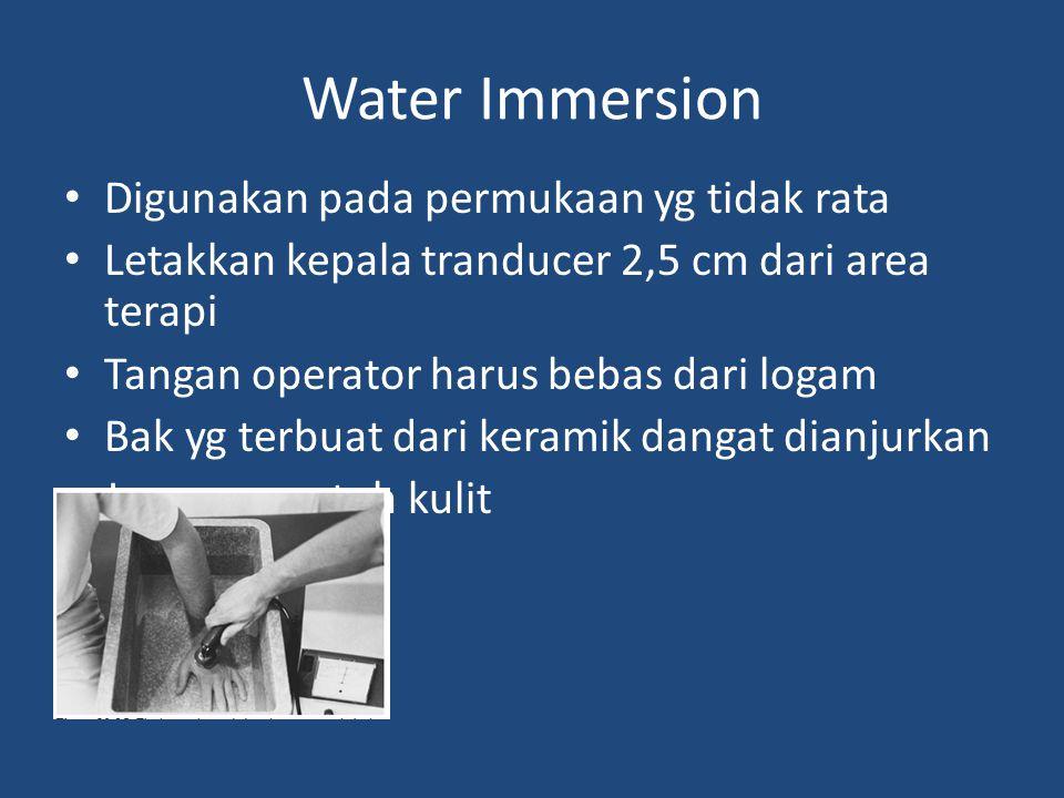 Water Immersion Digunakan pada permukaan yg tidak rata