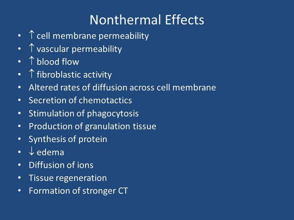 Nonthermal Effects  cell membrane permeability