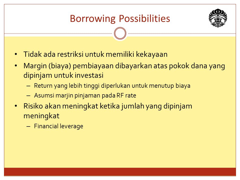 Borrowing Possibilities