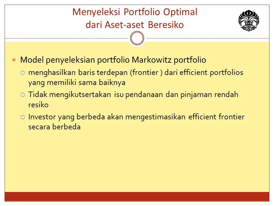 Menyeleksi Portfolio Optimal dari Aset-aset Beresiko