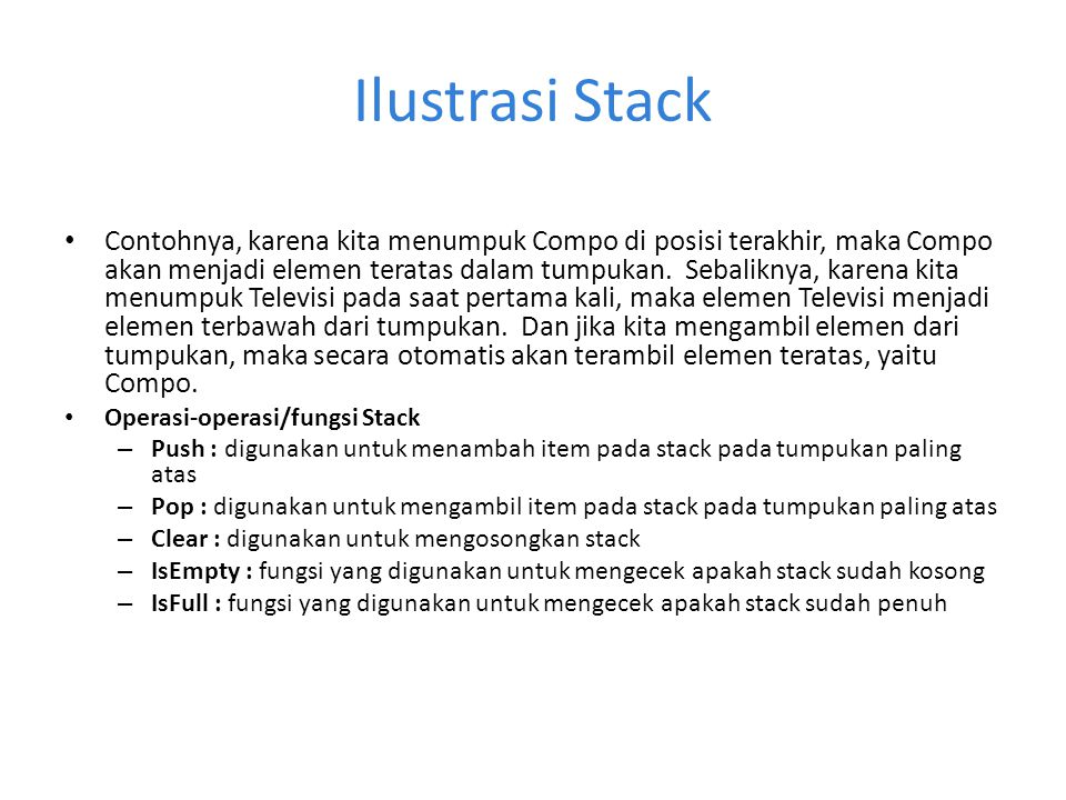 Ilustrasi Stack
