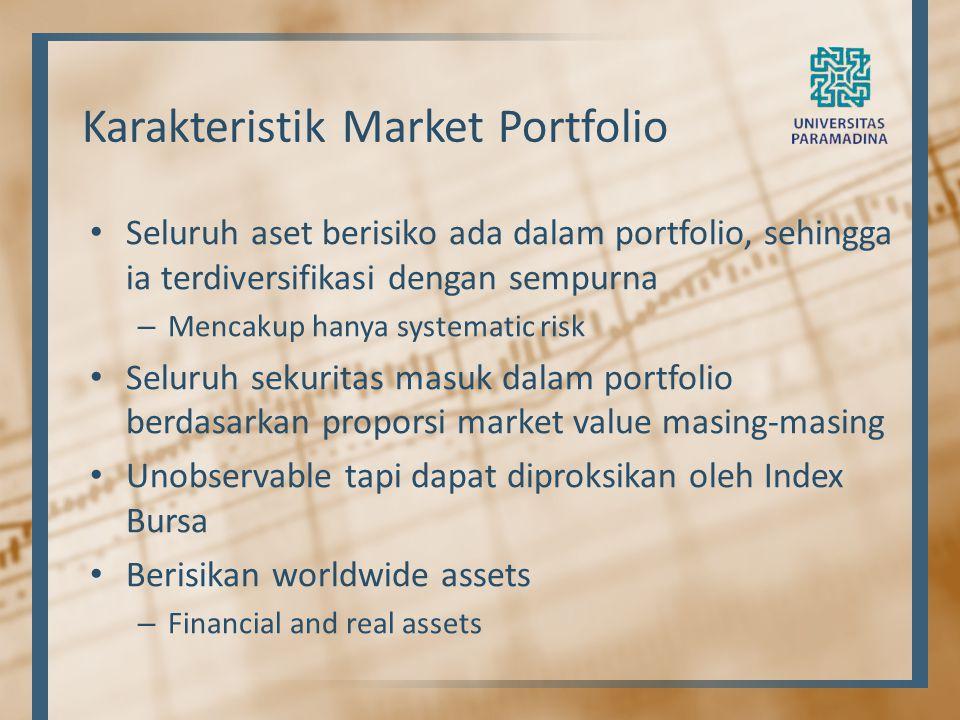 Karakteristik Market Portfolio