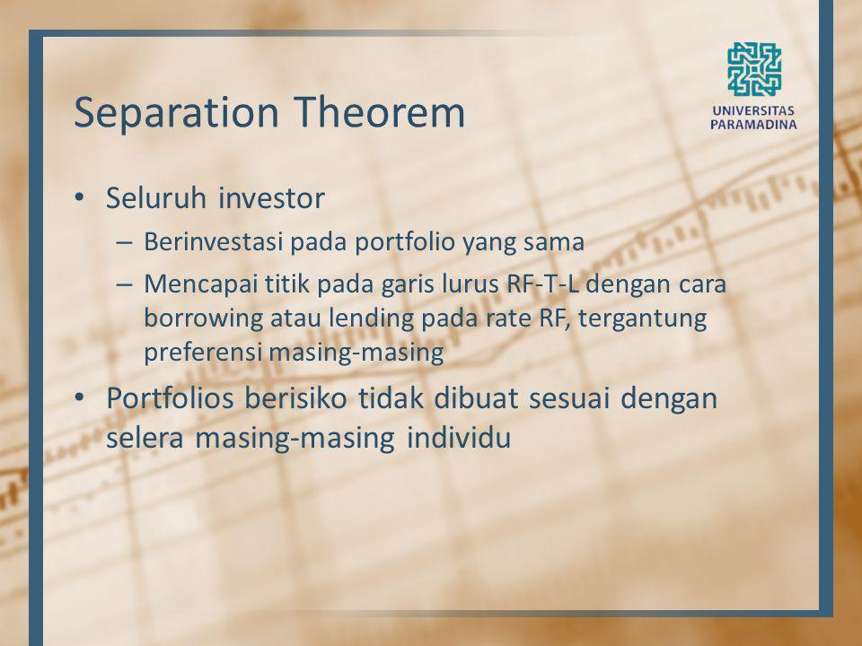 Separation Theorem Seluruh investor