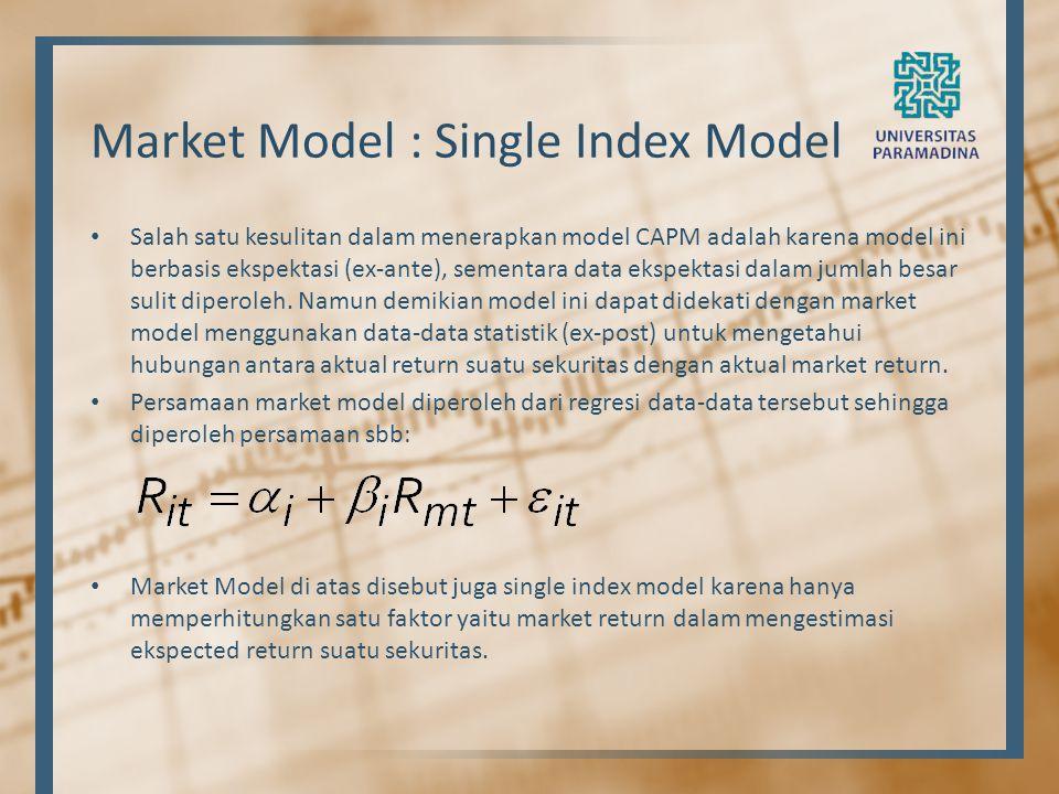 Market Model : Single Index Model