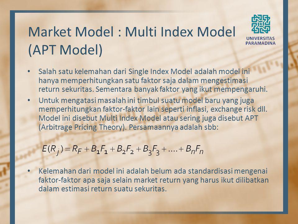 Market Model : Multi Index Model (APT Model)