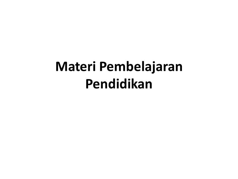 Materi Pembelajaran Pendidikan