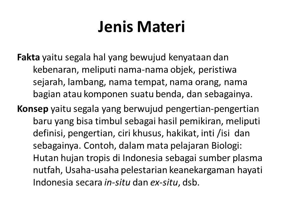 Jenis Materi