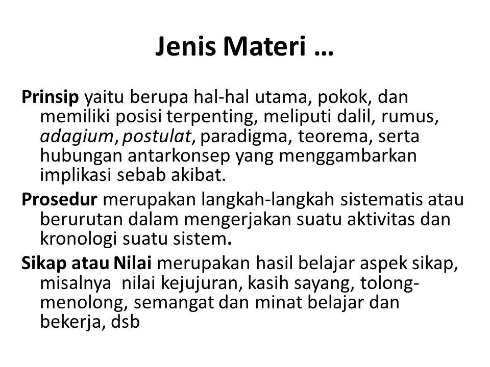 Jenis Materi …