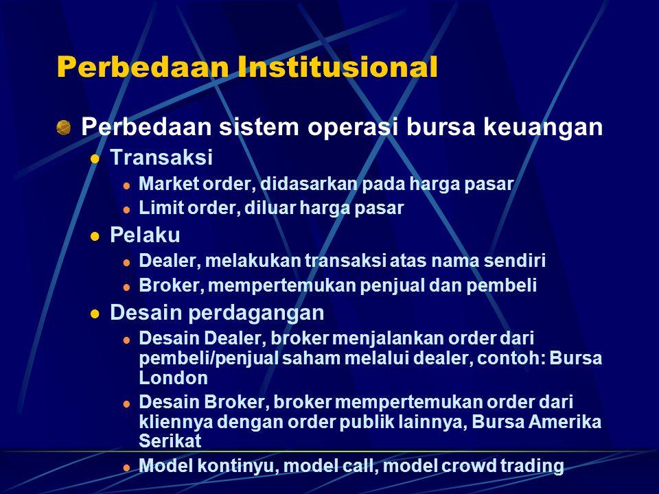 Perbedaan Institusional