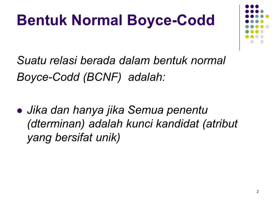 Bentuk Normal Boyce-Codd