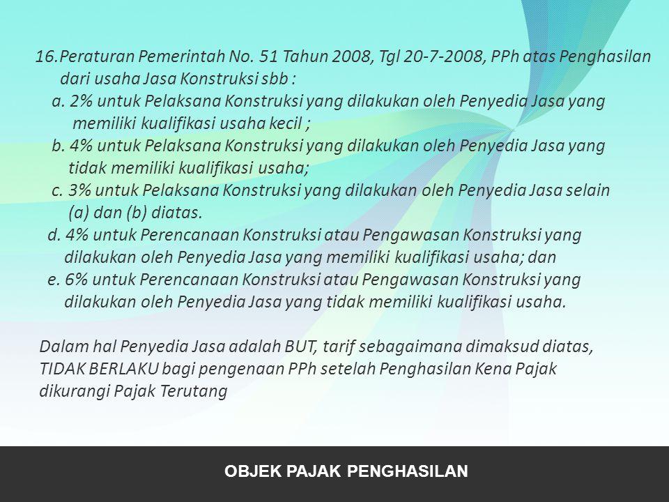 16. Peraturan Pemerintah No