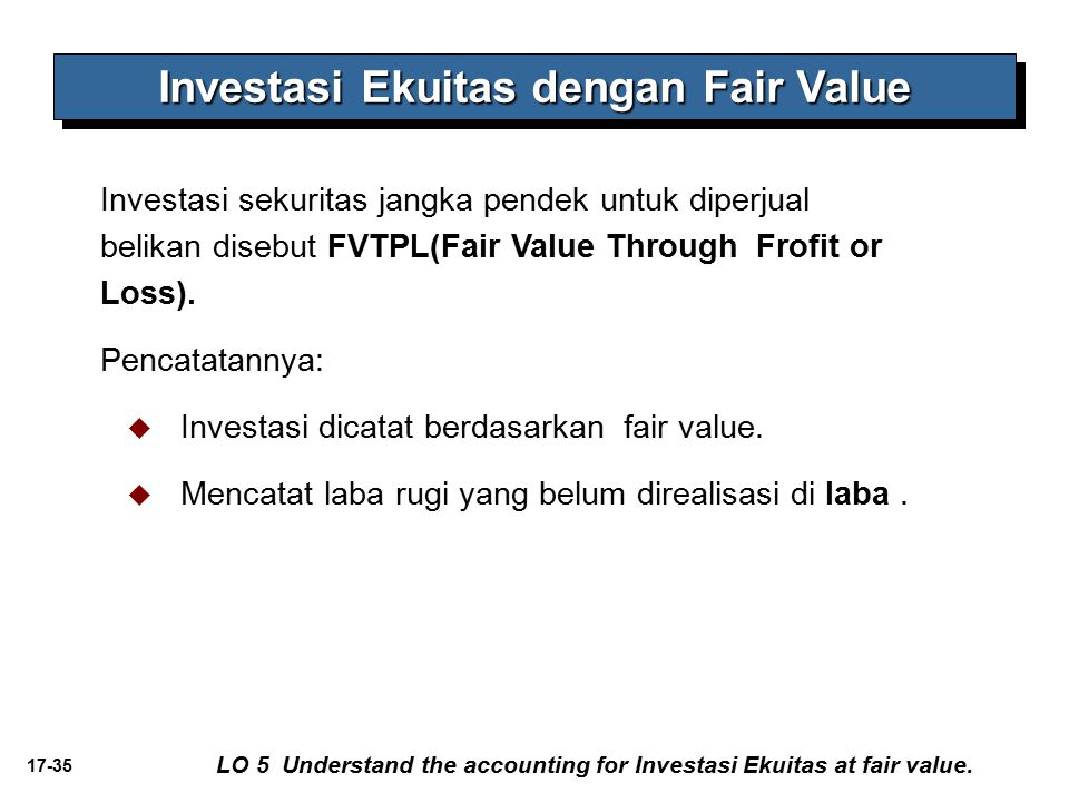Investasi Ekuitas dengan Fair Value