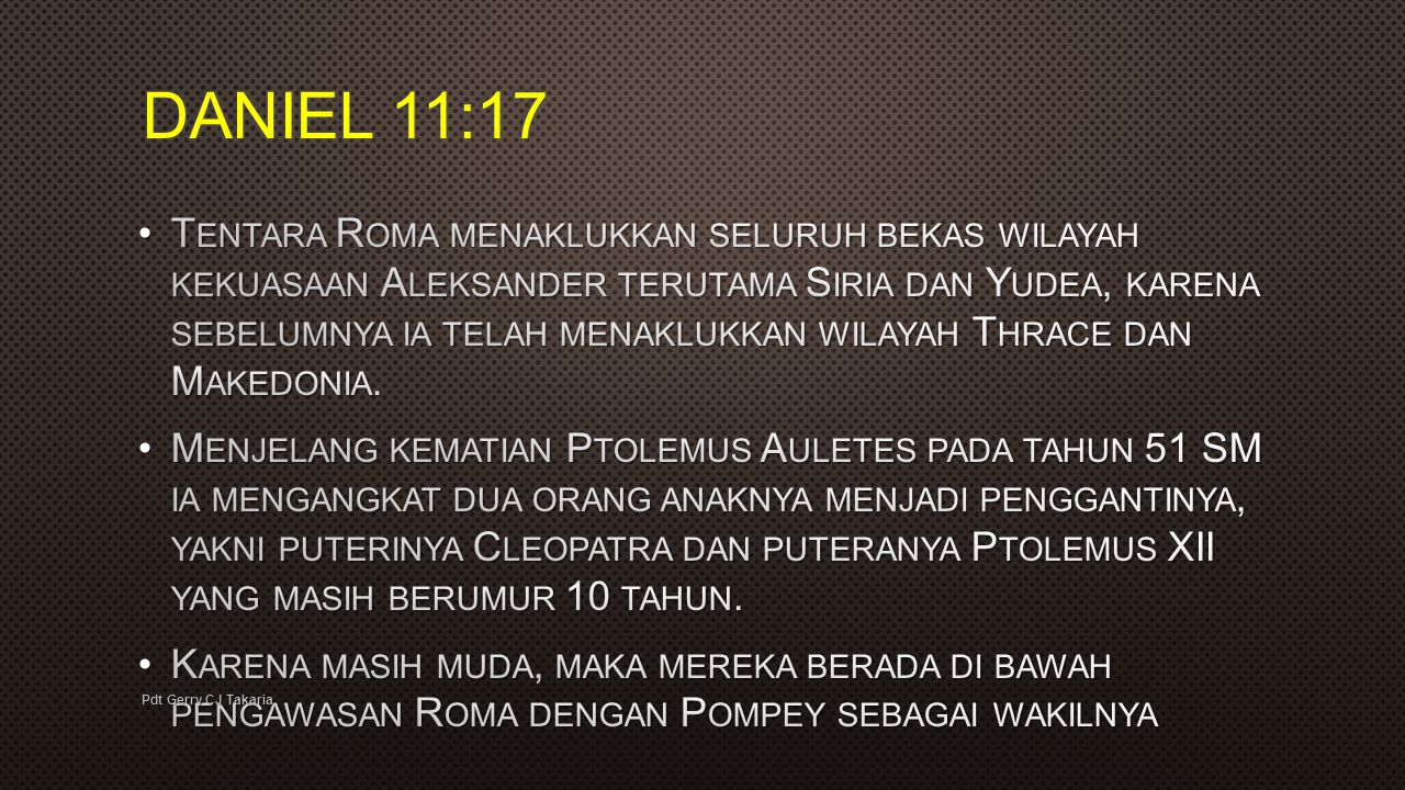 DANIEL 11:17