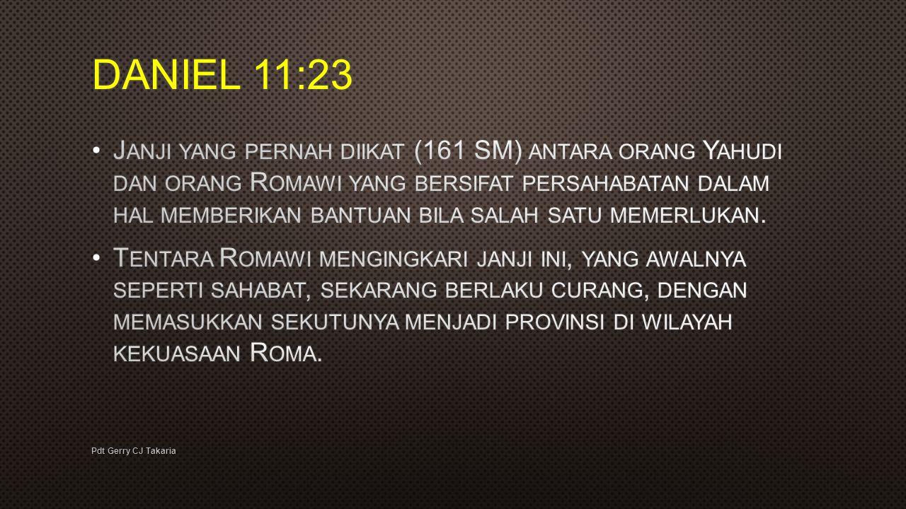 DANIEL 11:23