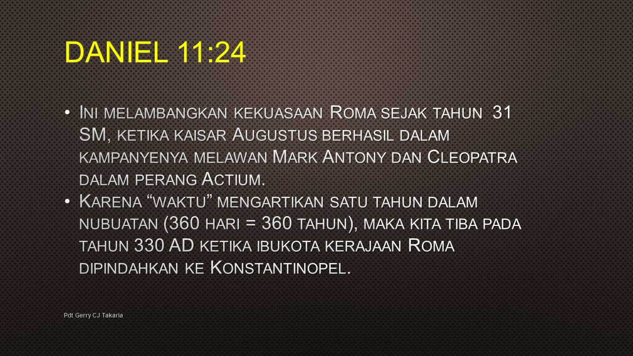 DANIEL 11:24