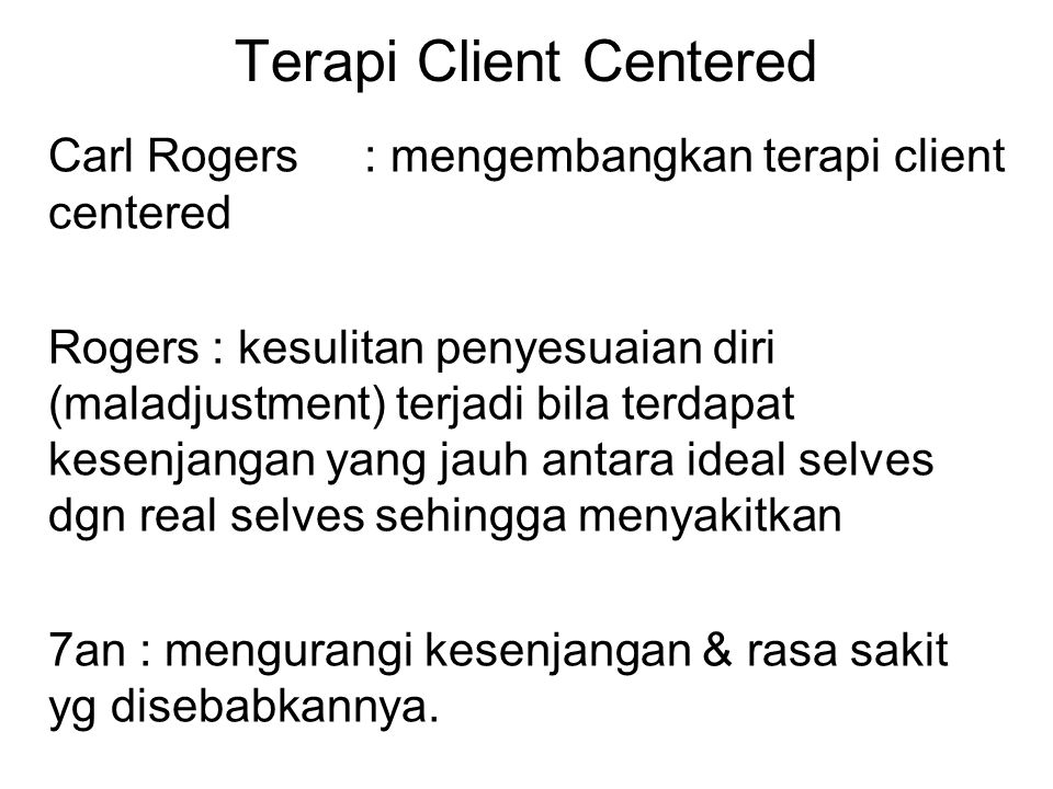 Terapi Client Centered