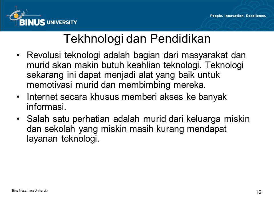 Tekhnologi dan Pendidikan