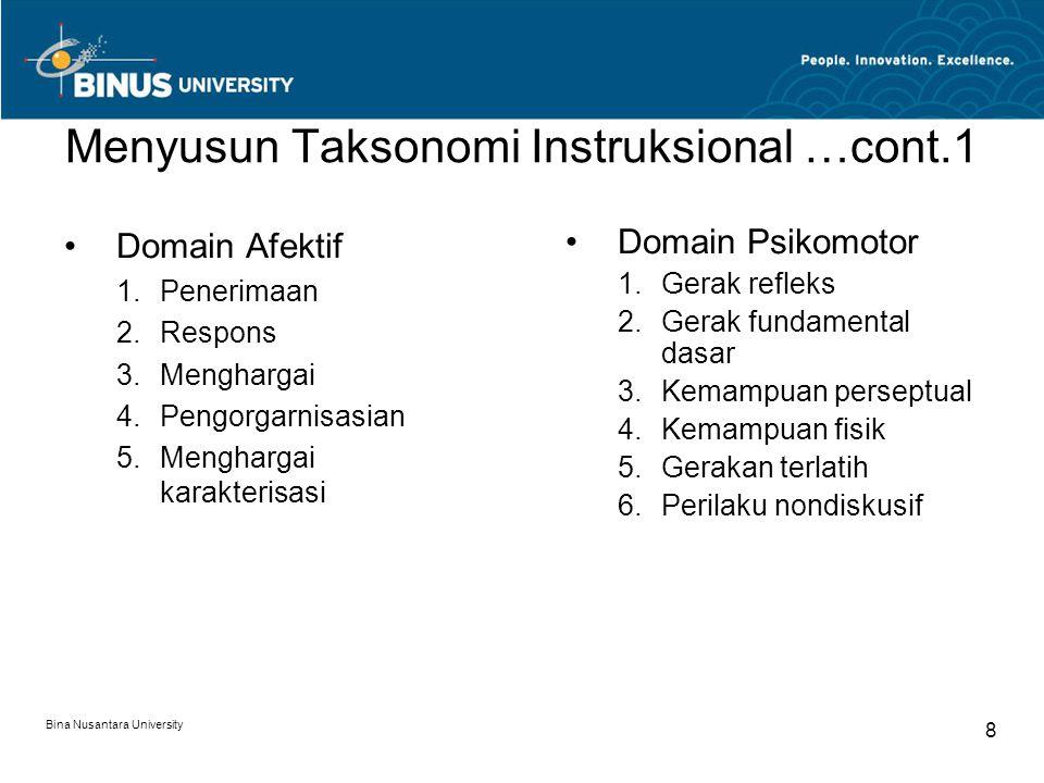 Menyusun Taksonomi Instruksional …cont.1