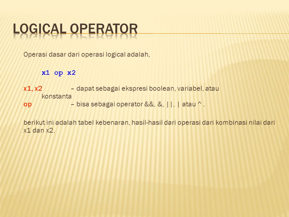 Logical Operator