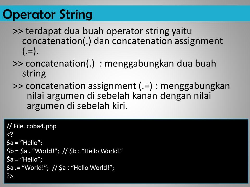 Operator String