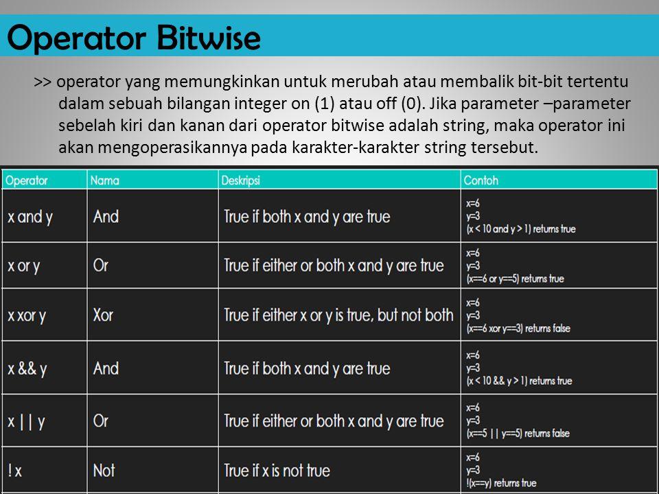 Operator Bitwise