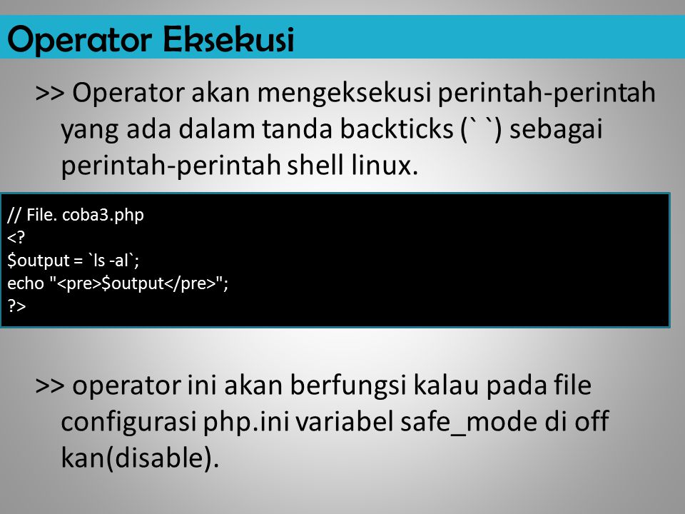 Operator Eksekusi