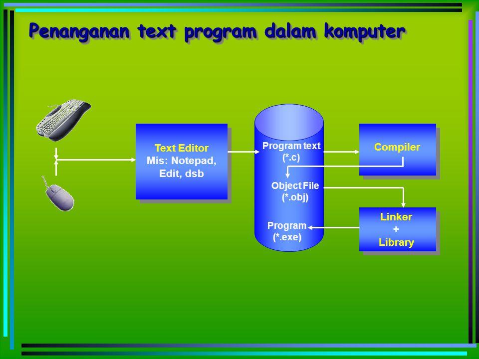 Penanganan text program dalam komputer