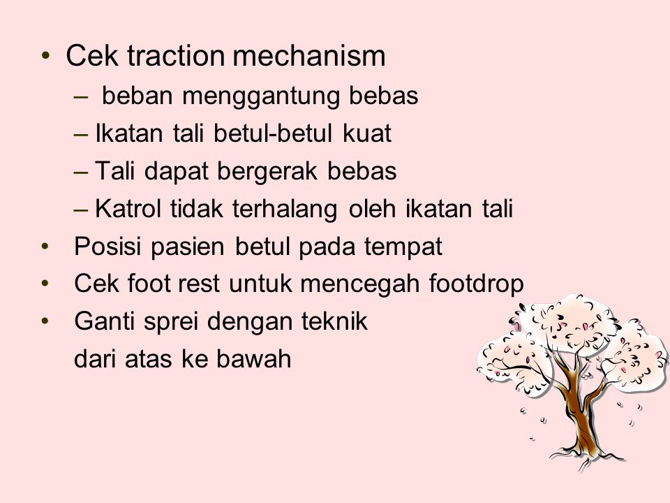 Cek traction mechanism