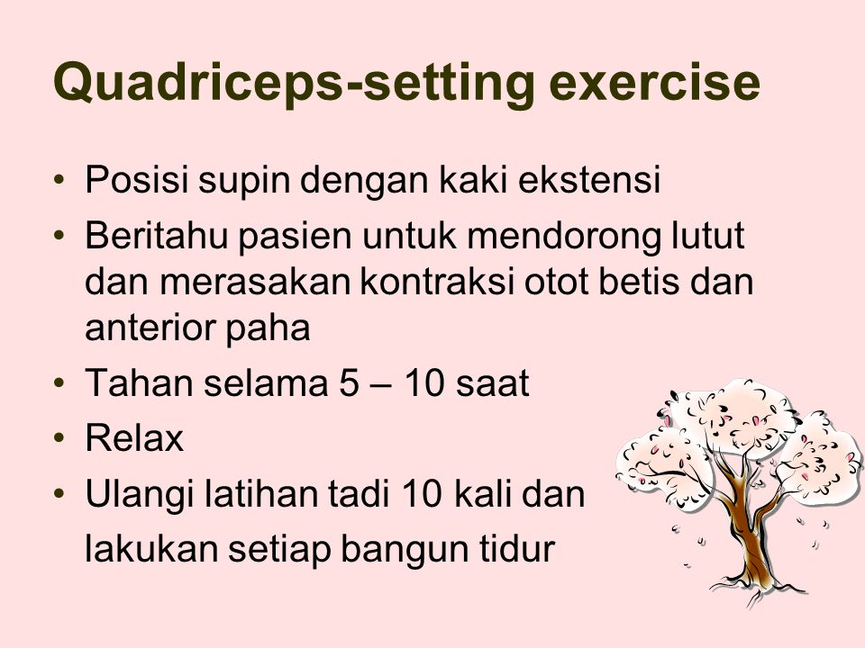 Quadriceps-setting exercise